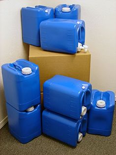 5 Gallon Samson Stackers Blue 8 Pack (40 Gallons) Emer. & Having an emergency supply of water stored is a necessity. In the ...