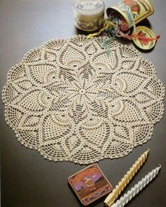 Crochet doily big 1/2 - pattern in next pin