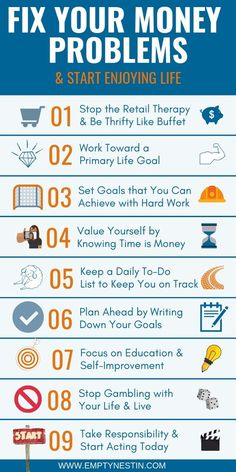How to Fix Your Money Problems Today and Enjoy Life – Finance tips, saving money, budgeting planner Budgeting Finances, Budgeting Tips, Financial Tips, Financial Planning, Financial Peace, Financial Literacy, Ways To Save Money, Money Saving Tips, Money Tips