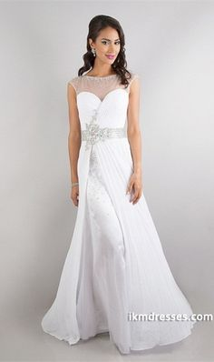 2015 New Style Beaded Scoop Neckline Chiffon&Tulle Backless Sweep Train Ruffled Prom Dress http://www.ikmdresses.com/2014-New-Style-Beaded-Scoop-Neckline-Chiffon-amp-Tulle-Backless-Sweep-Train-Ruffled-Prom-Dress-p84782
