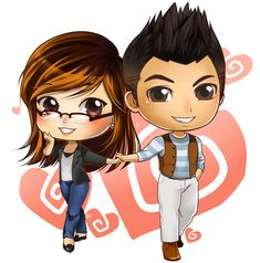 Chibi Couple 14498 - Chibi Couple - Chibi picture wallpaper HD