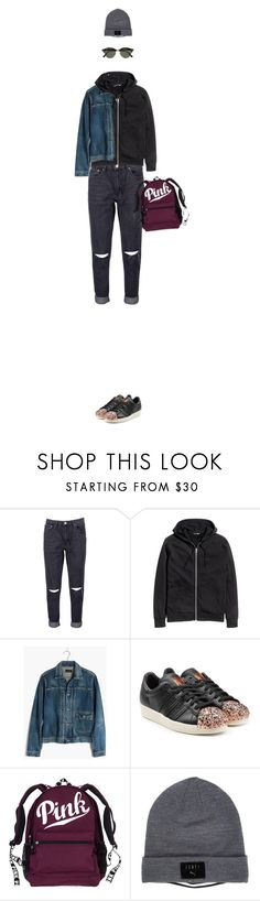 """Без названия #1754"" by alexa-girl2 ❤ liked on Polyvore featuring Boohoo, Madewell, adidas Originals, Puma, Ray-Ban, StreetStyle, sport, everyday and autumn"