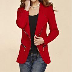 15b1f92bcd2 Dámský kabát se zipem křivák červený – Velikost L Na tento produkt se  vztahuje nejen zajímavá sleva