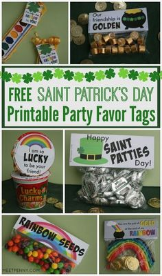 Love St Patrick's Day and want to share the fun at a class party or just with little gifts for the kids? These free St Patricks Day printables are great for party favors.