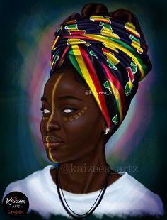 Home - Kaizeea Artz- A Daydreamer that creates from Love, Soul and the Guided Spirits. Black Girl Art, Black Girl Magic, Art Girl, Drawings Of Black Girls, Black Characters, Art Corner, Black Artwork, Afro Art, Magic Art