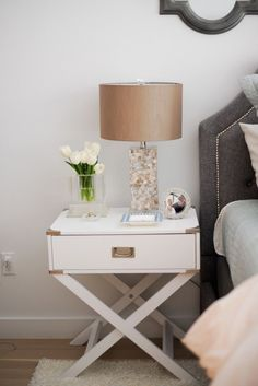 How to Make Your Bedroom an Oasis | White gold bedroom, Gold bedroom ...