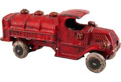 Cast Iron Toy Fire Truck by Ruby + George on @One Kings Lane