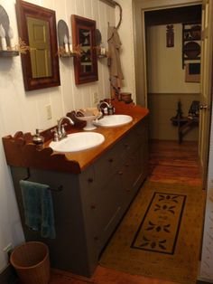 Old Sink Bathroom And Wood Walls On Pinterest