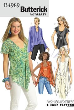 Purchase the Butterick 4989 Fast and Easy/Fashion Express sewing pattern and read its pattern reviews. Find other Tops sewing patterns.