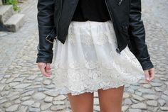 Leather Jacket with Feminine touches
