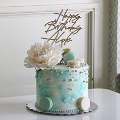 Buttercream Decorating, Buttercream Cake, Fancy Cakes, Cake Ideas, Birthday Cake, Flowers, Desserts, Decorations, Inspiration