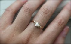 Petite Gold Ring by DesignedByLei on Etsy