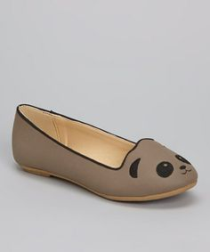 Take a look at this Taupe Mirabella Panda Flat by Bamboo on #zulily today!