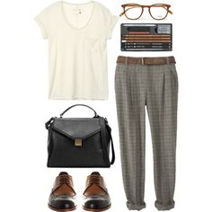 A fashion look from June 2013 featuring rag & bone t-shirts, Office oxfords and Zara handbags. Browse and shop related looks.