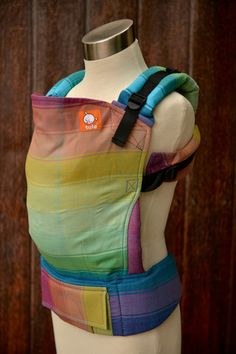 (Standard Size) Full Wrap Conversion Tula Baby Carrier - Girasol Sustain.Bow Turquoise Weft