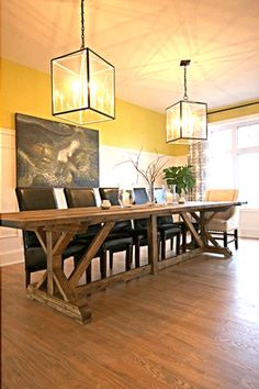 Handmade Lumber Store Dining Table by Lisa Clark - My House And Home