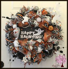 Hey, I found this really awesome Etsy listing at https://www.etsy.com/listing/244985927/halloween-wreath-ghost-wreath-boo-wreath