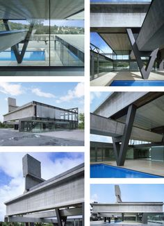 Concrete + Metal + Glass is the winning combination, and this modern house in Madrid, Spain is the proof - built in just 7 days, with a pool in the sky