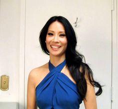Lucy Liu 2-28-12   Dress: Roland Mouret, Heels: Casadei