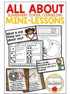 Do you implement mini-lessons in your Elementary School Counseling program? Here's a post on what, how, and why to try them out! Elementary Guidance Lessons, School Counselor Lessons, Elementary School Counselor, School Counseling, Elementary Schools, Counselor Office, Friendship Lessons, Social Skills Lessons, School Social Work