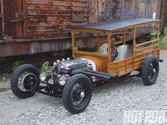 In this feature article HOT ROD takes a look at Todd Fee's homemade 1922 Ford Model T Depot Hack hot rod which features a wooden body and Jaguar XJ6 engine - Hot Rod Magazine