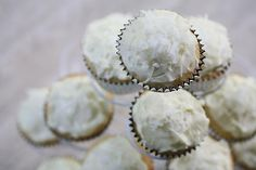 Coconut Cupcakes with Coconut Cream Cheese Frosting on Simply Recipes