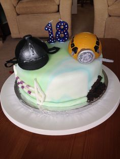 18 year old's cake. Horse rider and caving hobbies.