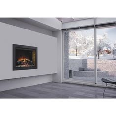 ClassicFlame BBKIT-33 33-inch Flush-Mount Trim Kit for use with In-wall Electric Fireplace Insert