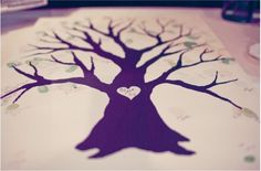 """Love this for an adoption party guest book. Everyone """"leaf"""" a thumbprint & signs their name"""