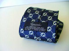 Gorgeous vintage Gucci Necktie Tie G logo by PittiVintage on Etsy, $49.00