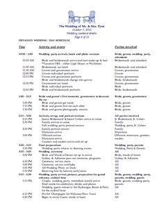 Free downloadable wedding timeline template moh time for Wedding rehearsal schedule template