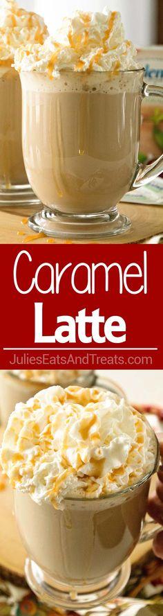 Homemade Caramel Latte Recipe ~ Delicious, Easy, Homemade Caramel Latte Recipe that Will Have You Sipping Lattes Whenever You Want! via @julieseats #SplendaSweeties #SweetSwaps @splenda #ad
