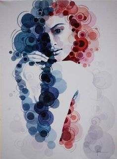 "Saatchi Art Artist Vacaru Nicoleta; Painting, ""Lirica(SOLD)"" #art"