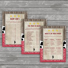Cowgirl Baby Shower Games Western Baby Shower Baby