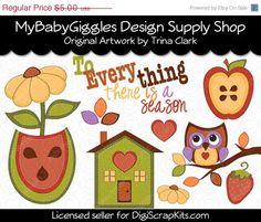 50 OFF SALE Sew Sweet Felties Fall Clip Art by mybabygiggles, $2.50
