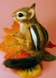 Oswald, the needle felted squirrel