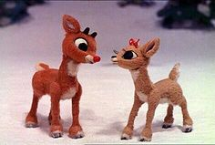 "Rudolph & Clarisse. ""There's always tomorrow...."" Rudolph the Red Nosed Reindeer."