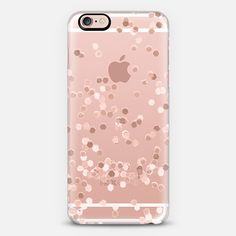LIMITED EDITION ROSE GOLD FAUX GLITTER TRANSPARENT by Monika Strigel for iPhone 6 - Classic Snap Case