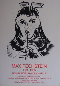 Max Pechstein - Original Artist Poster 1988 – Art & Vintage Store Ltd Vintage Prints, Vintage Posters, Expressionist Artists, Original Vintage, Ludwig, Exhibition Poster, Fine Art Prints, Poster Prints, Museum