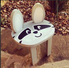 Raccoon Stool -- same plans as fox stool