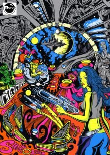 Poster - Starcadia by Dirty Donny Gillies - POSTSTARCADIA - Marco Pinball Parts
