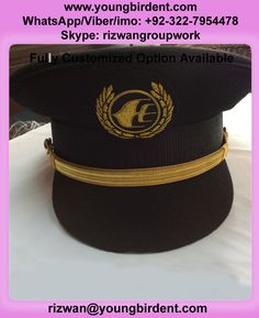 8e8abd0778f MALAYSIAN PILOT MAS PICKCAP PEAK CAP WITH BULLION WIRE BADGE fully  cutomized option available Whatsapp