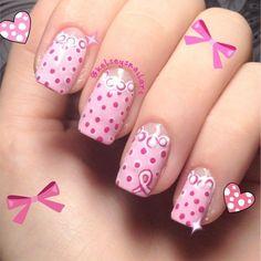 breast cancer awareness by kelseysnailart  #nail #nails #nailart by wanda