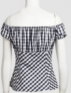 Online Shop Summer 2017 Woman Sexy Off Shoulder Black White Plaid Casual Blouse Ruffles Slash Neck Cotton Girls Low Back Peasant Pin Up Tops Dress Making Patterns, Dresses For Teens, Holiday Outfits, Editorial Fashion, Ideias Fashion, Sexy Women, Ruffle Blouse, Peplum, Womens Fashion