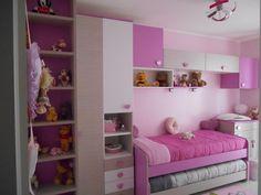 La cameretta di Ginevra è Smile Camerette! #pink #bedroom #heart