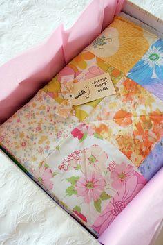 Look What I Made: Vintage Sheet Quilt   Katie's Kitchen Blog
