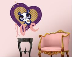 Lovely Panda from Littlest Pet Shop - beautiful wall decal for girls!
