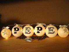 Lichterketten - Lichterkette mit *Wunschnamen* 4,00€ /Buchstabe - ein Designerstück von Kugel-Kreationen bei DaWanda