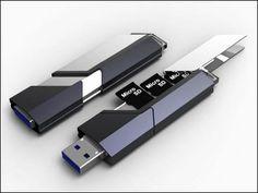 microSDカードを挿すことで容量が増やせるUSBメモリ「Combination Memory」 - ライブドアニュース