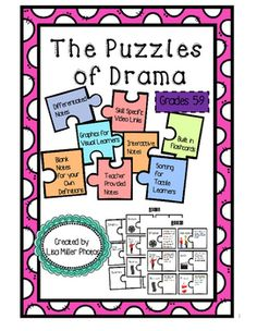 The Puzzles of Drama for 5-9~ An Excerpt from the Puzzles of Literature~As a special education teacher, I have often been asked to create materials for use in many different classrooms. To do this, takes time, energy, and creativity. I think it is so important to try to use students strongest learning ability.